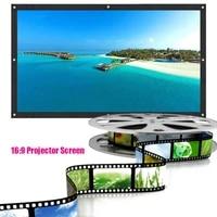 HD16 9 120 150 pouces ourlet polyester projecteur ecran cinema ecran Portable pliable home cinema video mur ecran