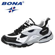 Bona 2020 novo estilo sapatos casuais homens marca tendência solf homem moda tênis de lazer sapatos masculinos calçados ao ar livre zapatillas hombre