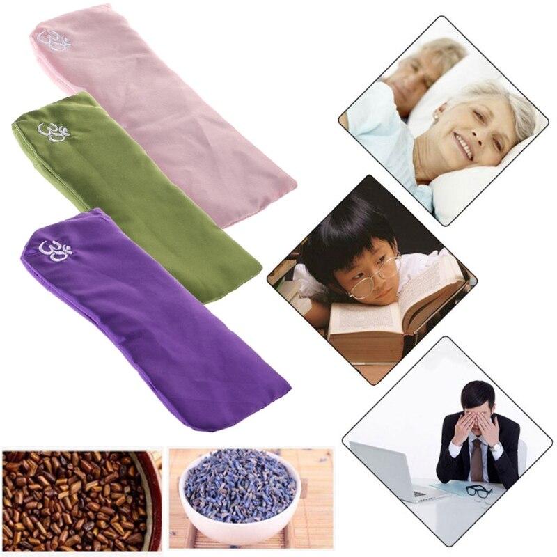 Yoga ojo almohada seda Semilla de Cassia lavanda masaje relajación mascarilla aromaterapia U1JC