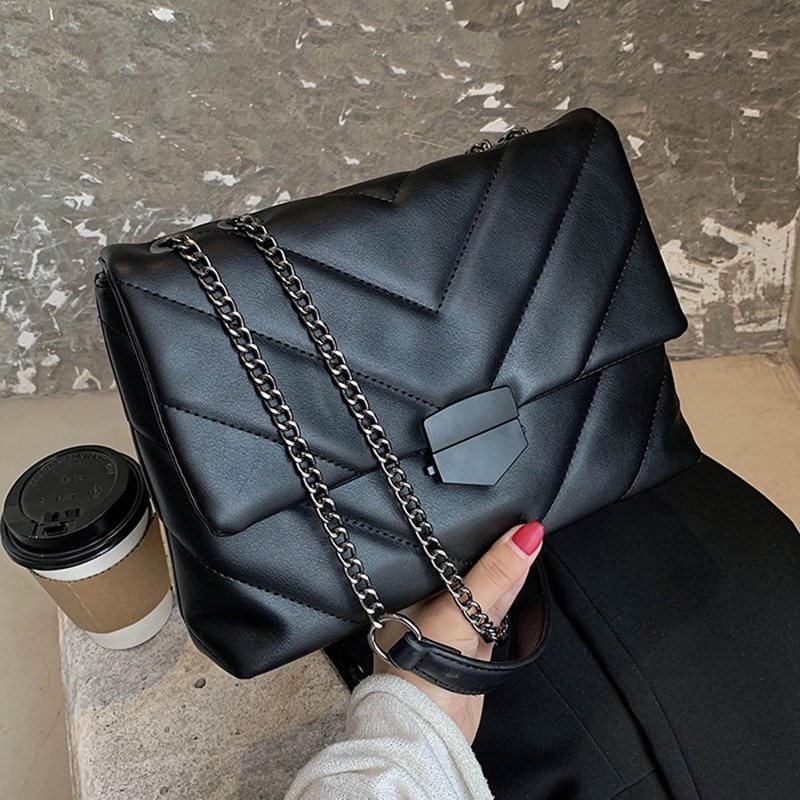 Embroidery Thread Small PU Leather Crossbody Bags for Women 2021 Trend Hand Bag Women's Branded Trending Shoulder Handbags