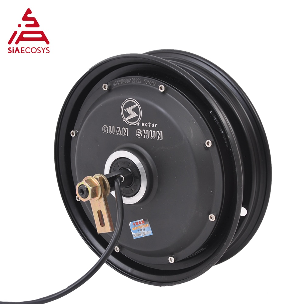QSMOTOR 10x2.15inch 3000W 60V 80kph BLDC Hub Motor with QSKLS7230H controller in wheel hub motor kits for Electric Scooter enlarge