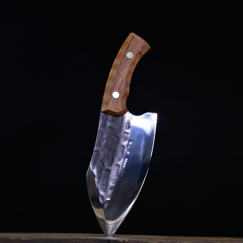 سكين تقطيع العظام المنزلية الكبيرة سكين مطبخ مزورة باليد سكين تقطيع العظام المهنية