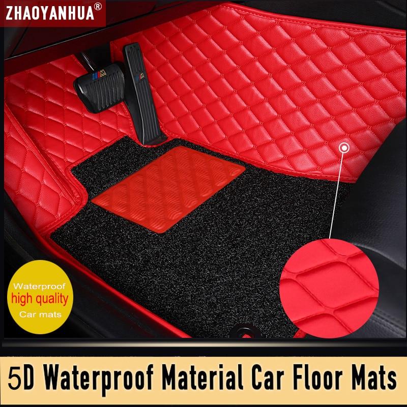 Waterproof Anti-dirty Leather car floor mats for Cadillac ATS ATSL CT6 CTS SLS SRX XT5  custom   Carpet car accessories