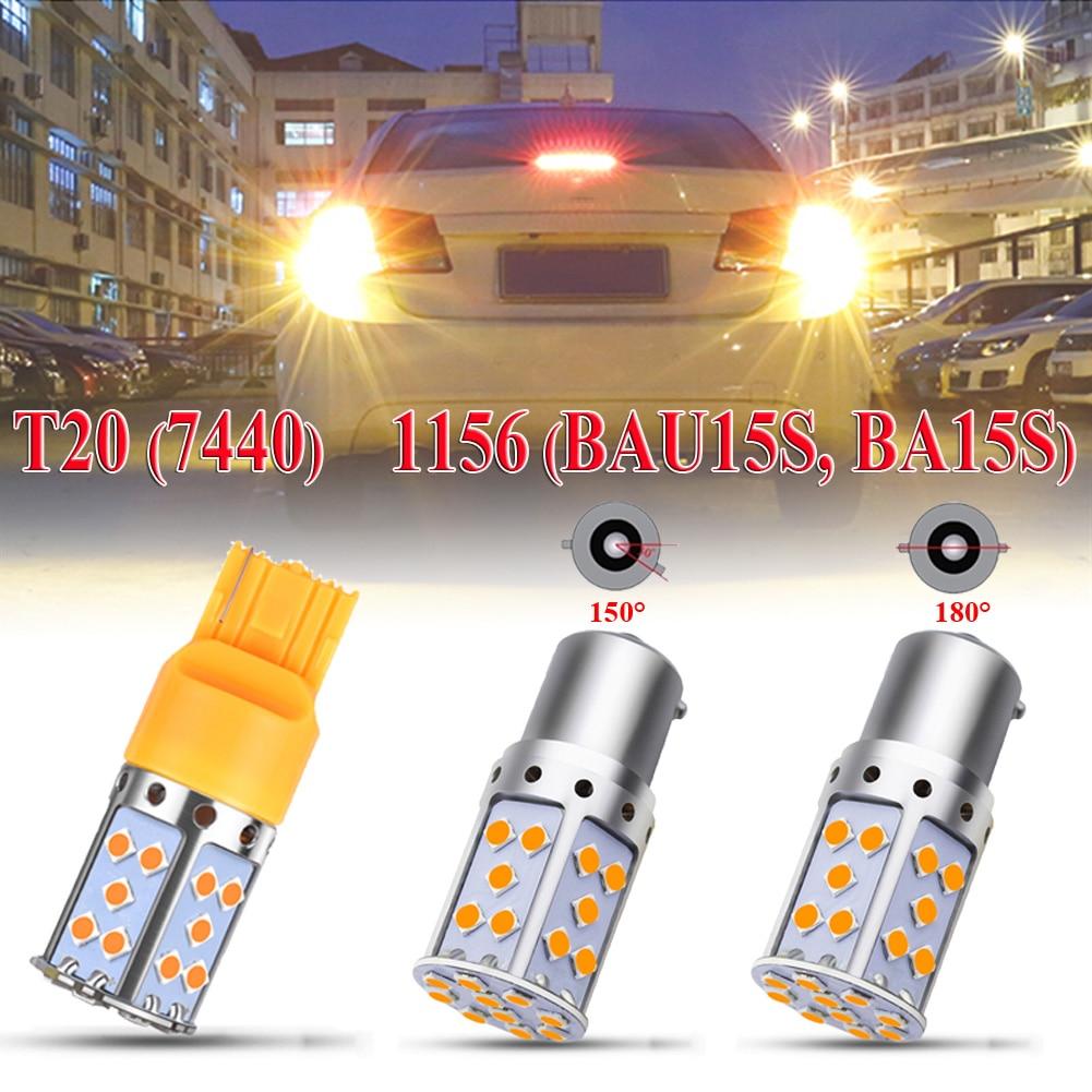 1PCS Car Turn Signal Light For Amber P21W LED 1156 BA15S PY21W BAU15S 3030 35SMD Bulb Canbus T20 7440 W21W LED Lamp Headlight