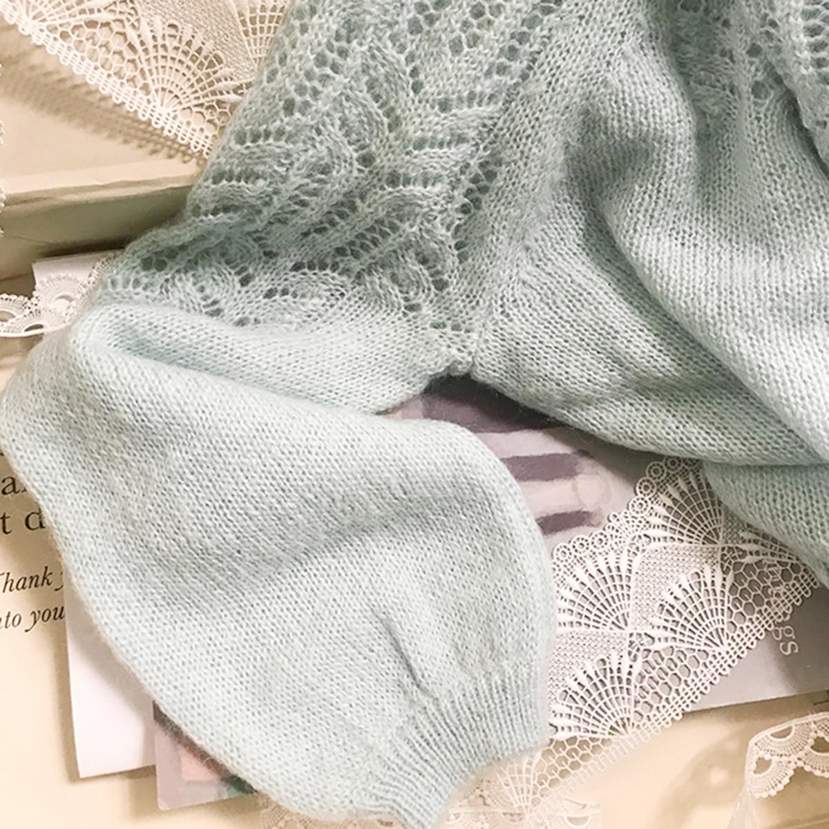 Chic Mohair Knitwear Gilet 2021 Woman Long Sleeve Round Neck Elegant Cardigan Ladies Autumn Winter Casual Vintage Sweater Jumper enlarge