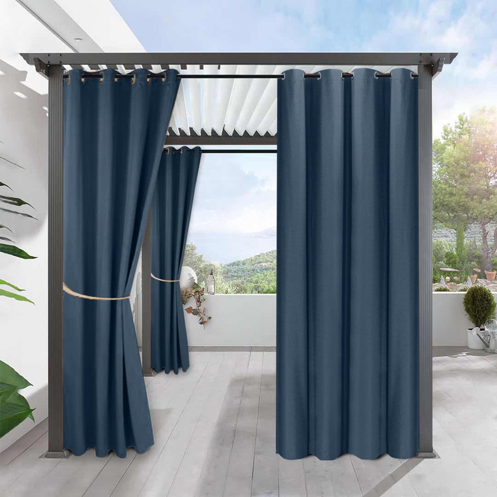 2 لوحة للماء العريشة في الهواء الطلق الستار ل حديقة الباحة كامل ستائر التعتيم غرفة نوم غرفة المعيشة حمام غرفة لوحة ثنى