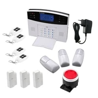 Systeme dalarme de securite domestique sans fil  GSM  avec application  message vocal  SMS  notification automatique de mouvement  detection dincendie