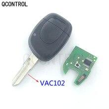 Qcontrol Auto Afstandsbediening Sleutel Pak Voor Renault Master Clio Twingo Kangoo PCF7946 Chip 433 Mhz VAC102 Blade