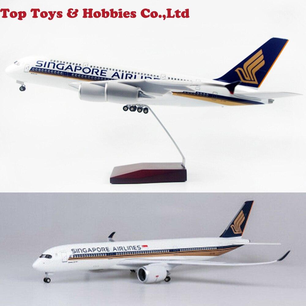 Çocuklar için oyuncaklar 1/142 ölçekli yolcu uçağı modeli singapur havayolları A350 LED uçak Model oyuncak uçak hava kuvvetleri modeli