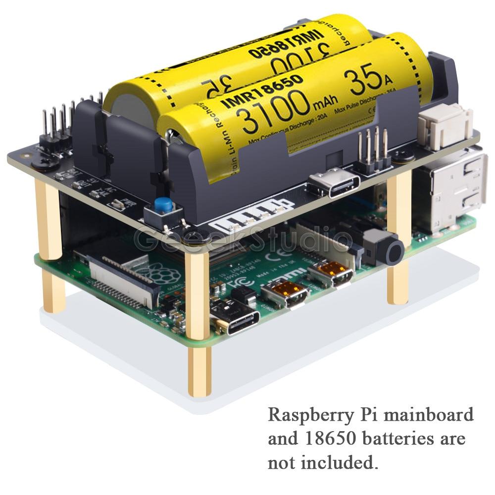 Raspberry Pi 4B/3B +/3B X728 UPS шляпа и плата управления питанием с функцией обнаружения потери мощности переменного тока, функция автоматического вклю...