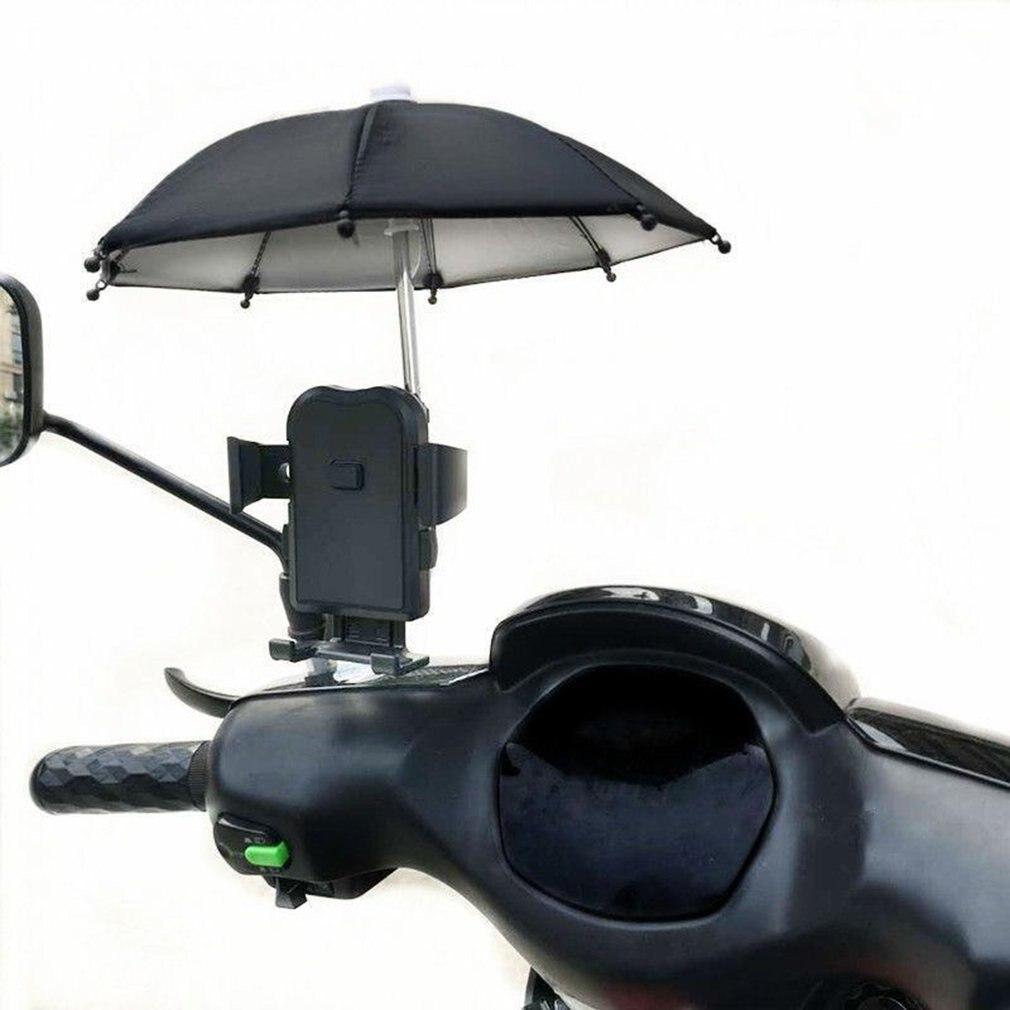 New Mini 1pc Umbrella Motorcycle Phone Holder Protector Thicken Updated Super Strength 8 Bones Motorcycle Umbrella Random Color