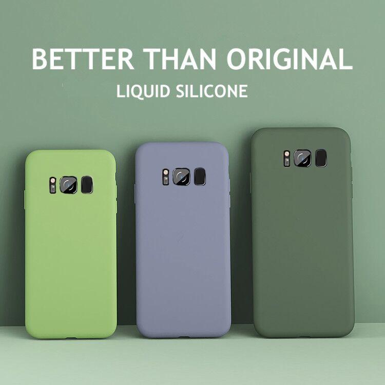 Шелковистый мягкий жидкий силиконовый чехол для телефона SamSung Galaxy S10 S9 S8 Note 10 Plus 9 8 S7 Edge S10E S 7 10 Plus Оригинальный чехол