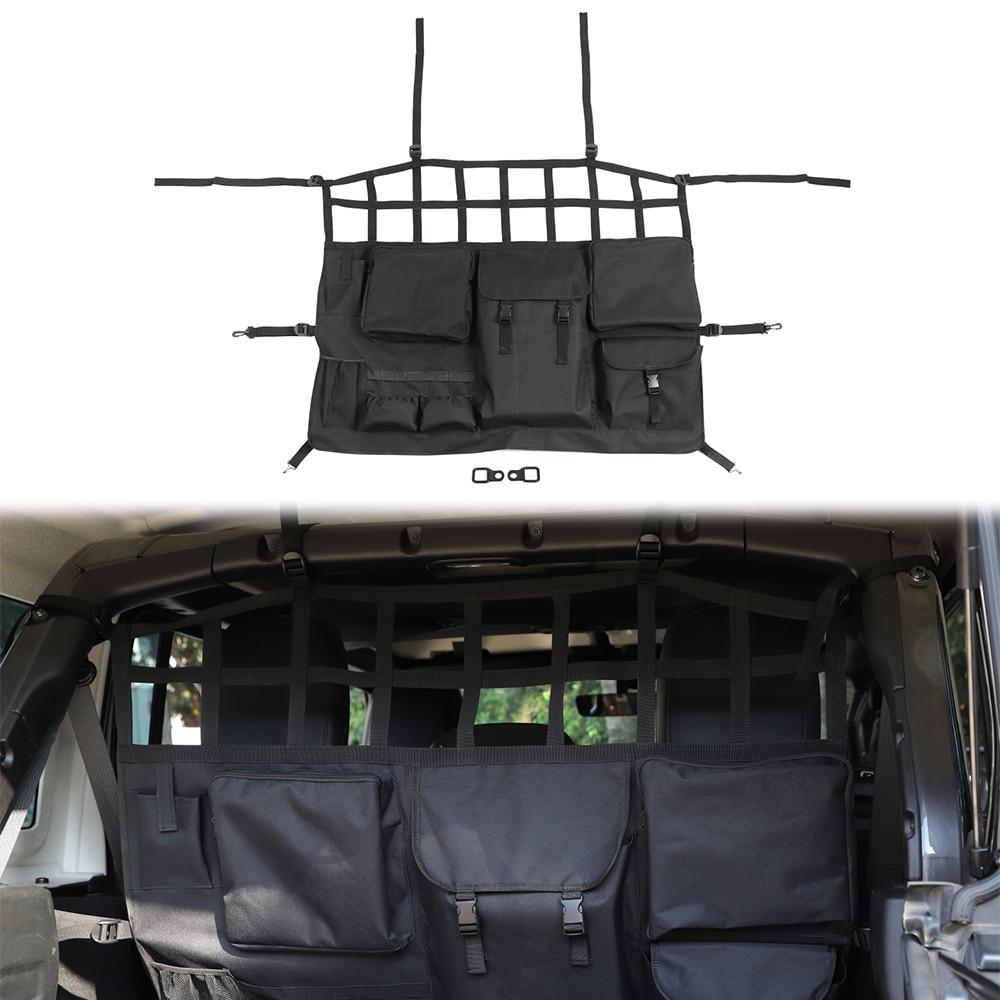 Bolsa de almacenamiento de herramientas de asiento para maletero trasero de coche redes colgantes para Jeep Wrangler JL 2018 2019 gladiador JT 2020 accesorios de limpieza