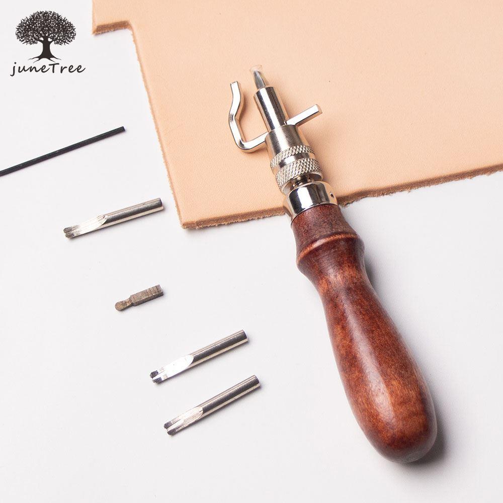 Junetree 1 Набор кожаных инструментов для рукоделия с регулируемой строчкой и ластовицей, кожаный инструмент для рукоделия, инструменты для шит...