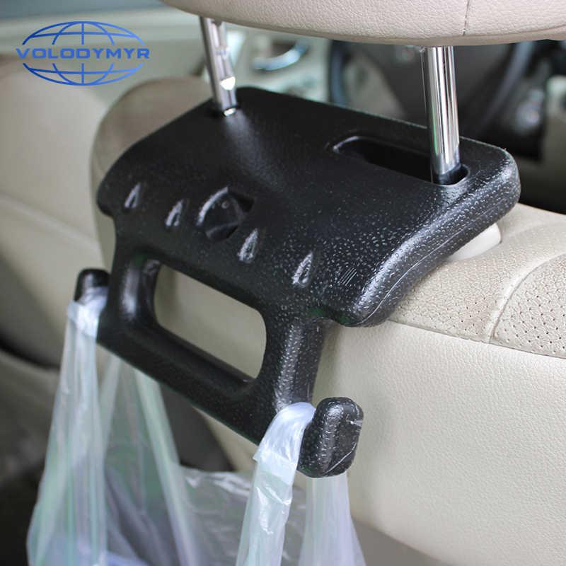다기능 자동차 좌석 머리 받침 걸이 가방 후크 홀더 팔걸이 플라스틱 또는 지갑 가방 천으로 식료품 저장 자동 고정 장치 클립 깔끔한 저장소 Aliexpress