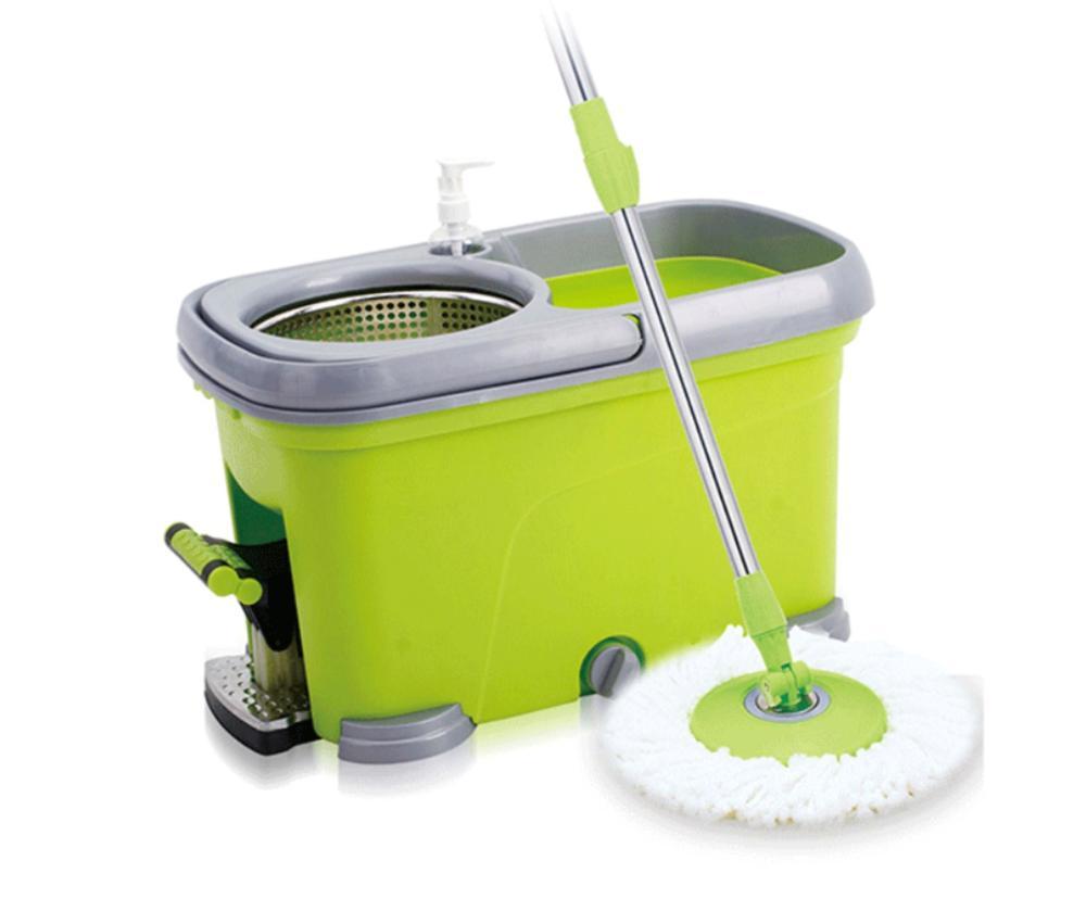 360 graus de rotação mop conjunto balde limpeza inteligente janela chão casa cozinha microfibra spin mop punho aço inoxidável mop