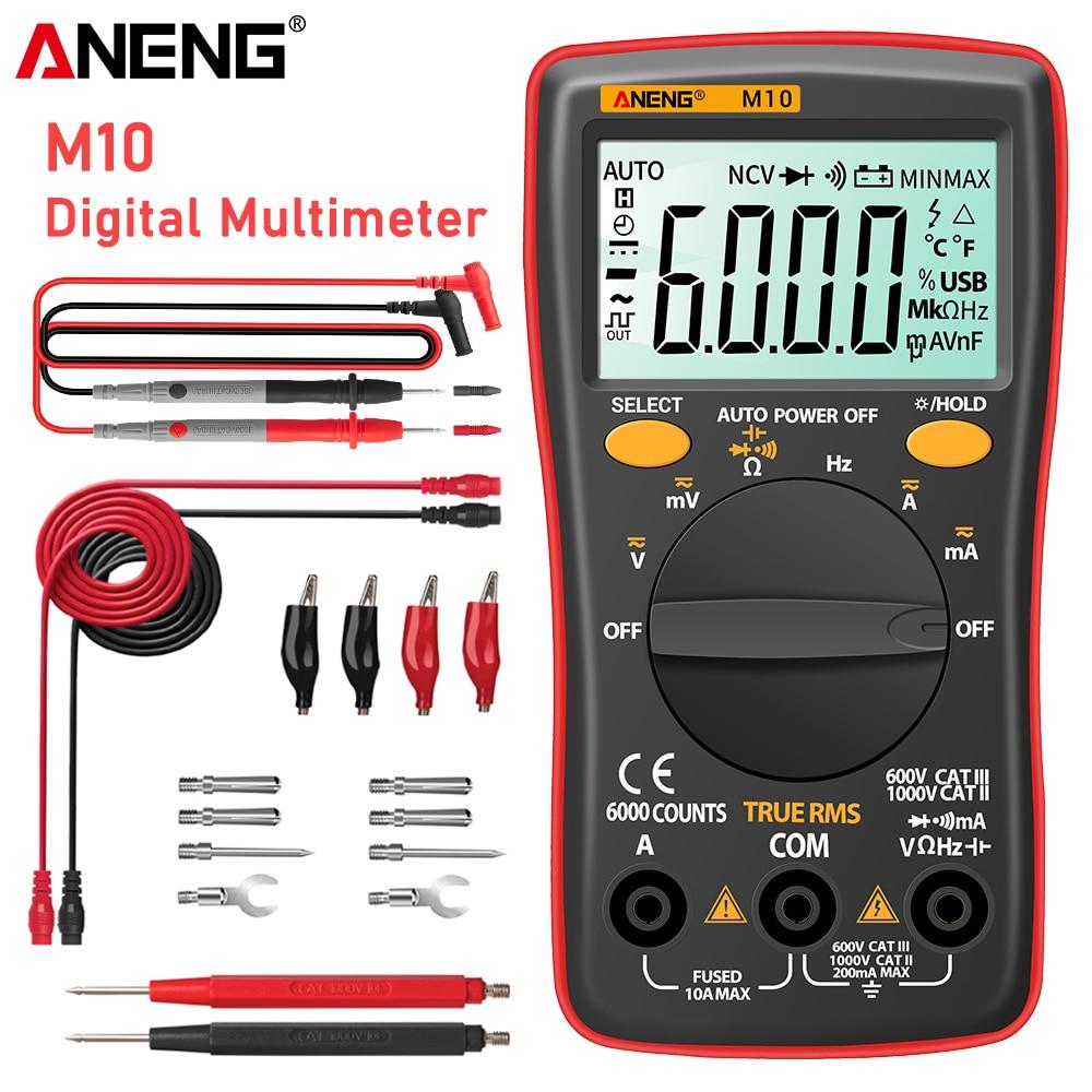 ANENG M10 multimetro digital profesional analogico osciloscopio polimetro tester digital profesional tester...