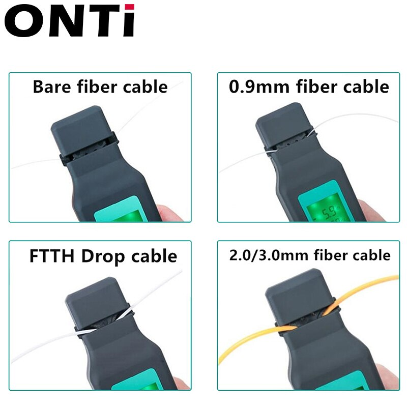 ONTi Optic Fiber Identifier Live Fiber Optical Identifier 750nm-1700nm SM and MM Fiber Cable enlarge