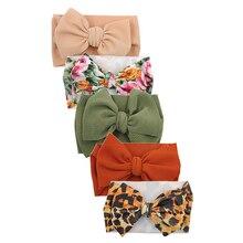 5 Pcs/lot impression Turban bandeau bébé filles cheveux accessoires balle tissu Photo accessoires nouveau-né chapeaux enfants arc bandeau