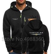 2019 marque haut dhiver Chrysler Logo hommes à capuche mode F1 sweats à fermeture éclair sweat à capuche décontracté veste Cadillac à capuche