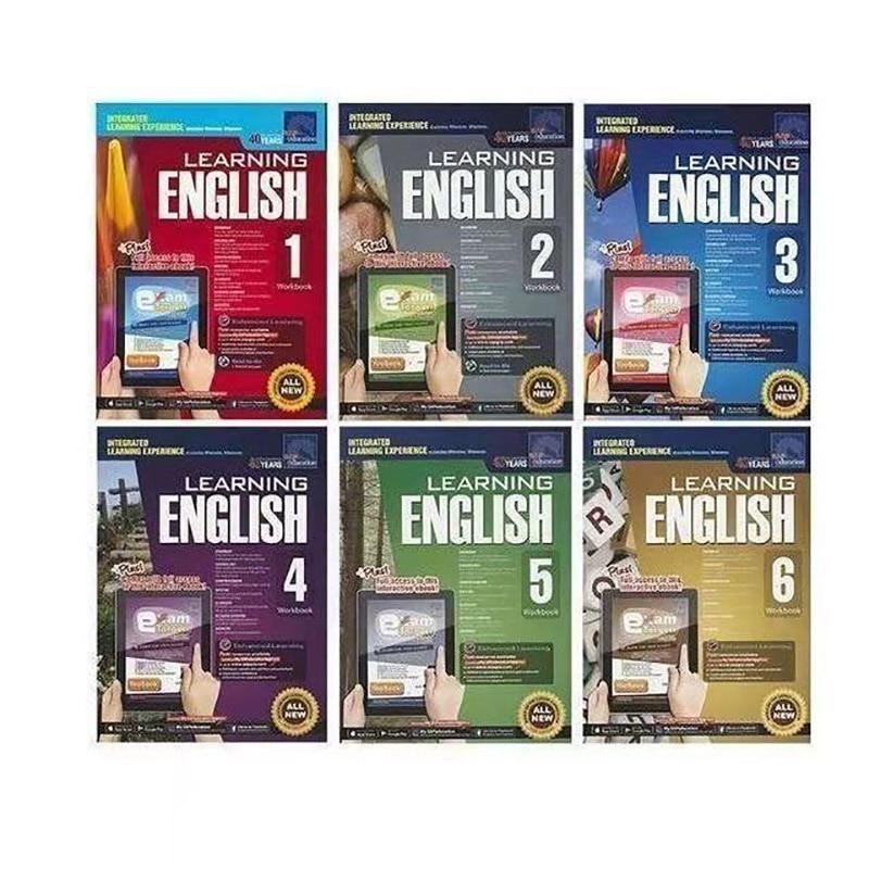 6 Books/Set SAP Learning English Workbook Grade 1-6 Children Learn English Books Singapore Primary School English Textbook