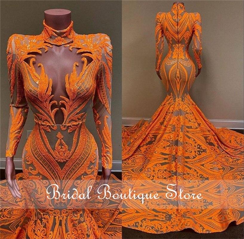 فستان سهرة بتصميم حورية البحر ، مقاس كبير ، ياقة رسن ، ترتر ، ظهر عاري ، مصنوع حسب الطلب ، للمناسبات الخاصة ، 2021
