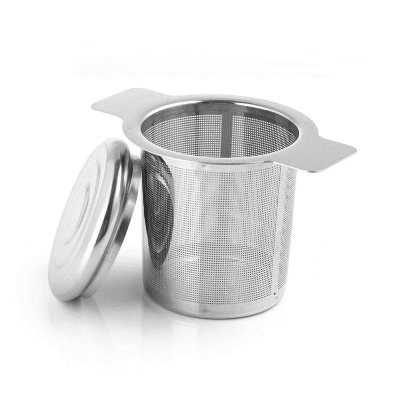 Mesh Tea Infuser Reusable Tea Strainer Teapot 304 Stainless Steel Loose Tea Leaf Spice Filter Drinkware Kitchen Accessories