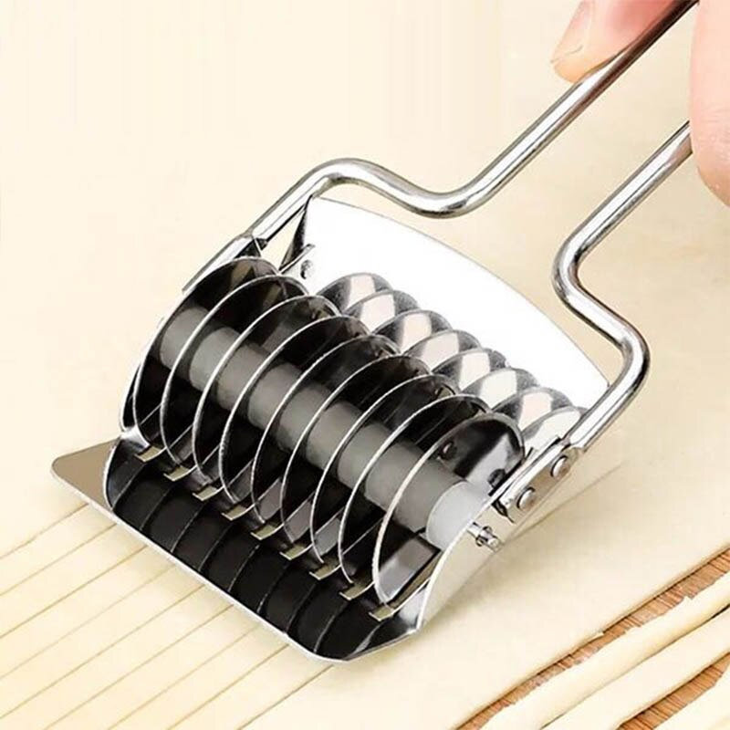 Fabricantes Spaetzle cortador de chalote Mango antideslizante sección Manual 1 ud. Cuchillo de corte de fideos máquina de prensado de acero inoxidable