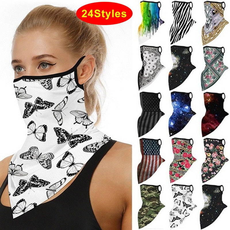 1Pcs Unisex Adult Colorful Butterfly Mouth Scarfs Washable And Reusable Face Cover Warm Windproof Du