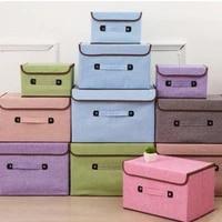 cotton and hemp folding cover storage box drawer fabric finishing box household dust bag bra storage box