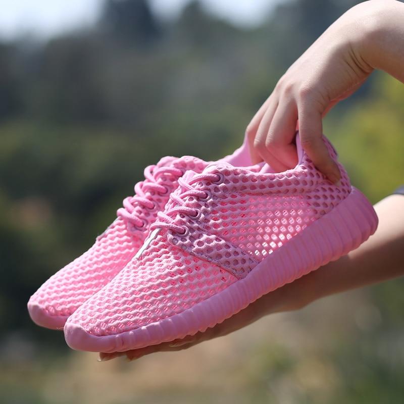 2020 nueva malla de zapatos planos de las mujeres zapatos ligero de...