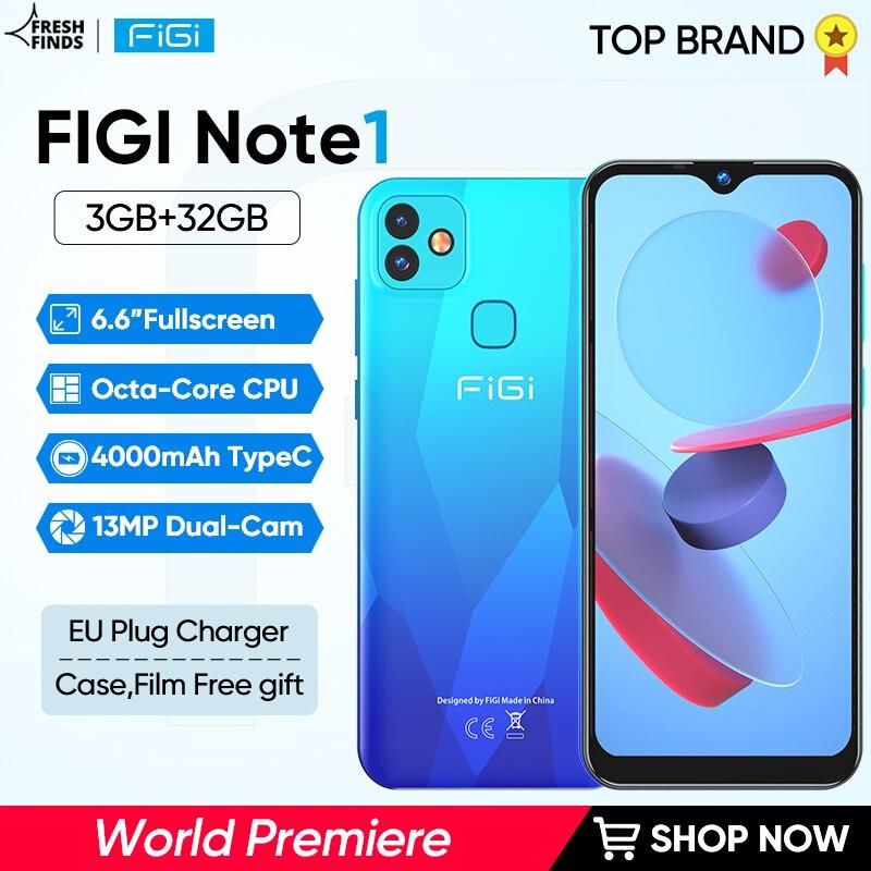FIGI-teléfono inteligente Note 1 desbloqueado, pantalla de 6,6 pulgadas, batería de 4000mAh,...