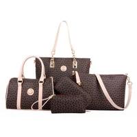 5 set famous brand women luxury hand bag for 2021 pu leather purse bags shoulder messenger ladies handbag bolsa feminina