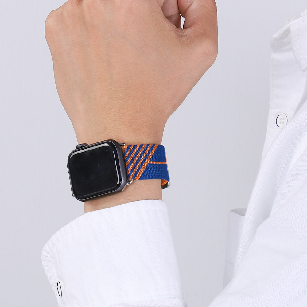 Nylon braid Jumping Single Tour Strap for iWatch 38mm 42mm  sports band for Apple Watch 40mm 44mm bracelet 6 SE 5 4 321 Series enlarge