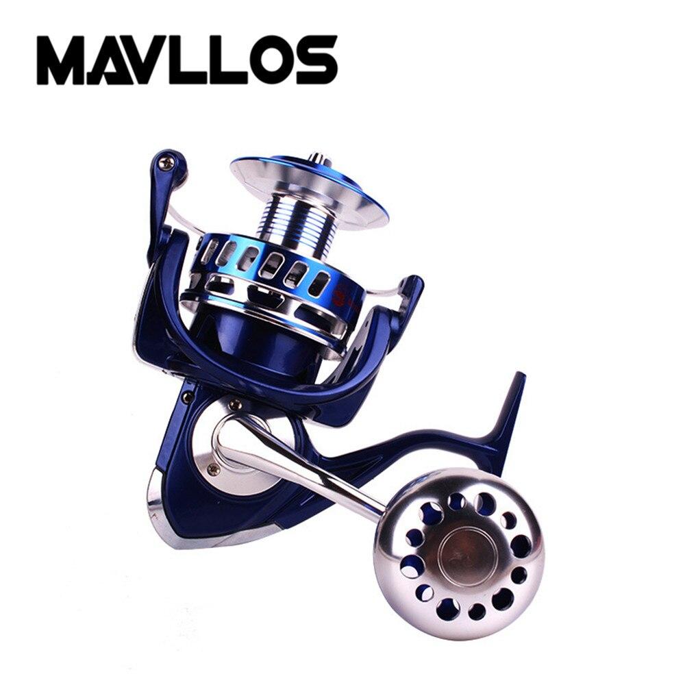 Mavllos Max Drag 30kg Metal Slow Jigging Fishing Reel 6000 9000 Saltwater Surf Spinning Reel Waterproof Jig Boat Fishing Reel enlarge