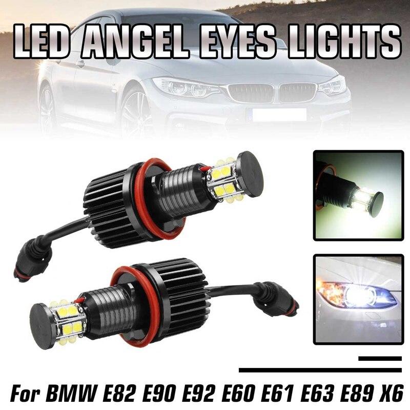 1 пара 120 Вт 12LED автомобильный Ангел глаз маркер фары лампы для BMW E82 E90 E92 E60 E61 E63 E89 X6 H8