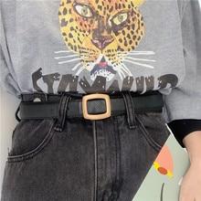 Elegant Lychee Pattern Single Product Korean Belt Female Chic Student Jeans Simple All-Match Retro H