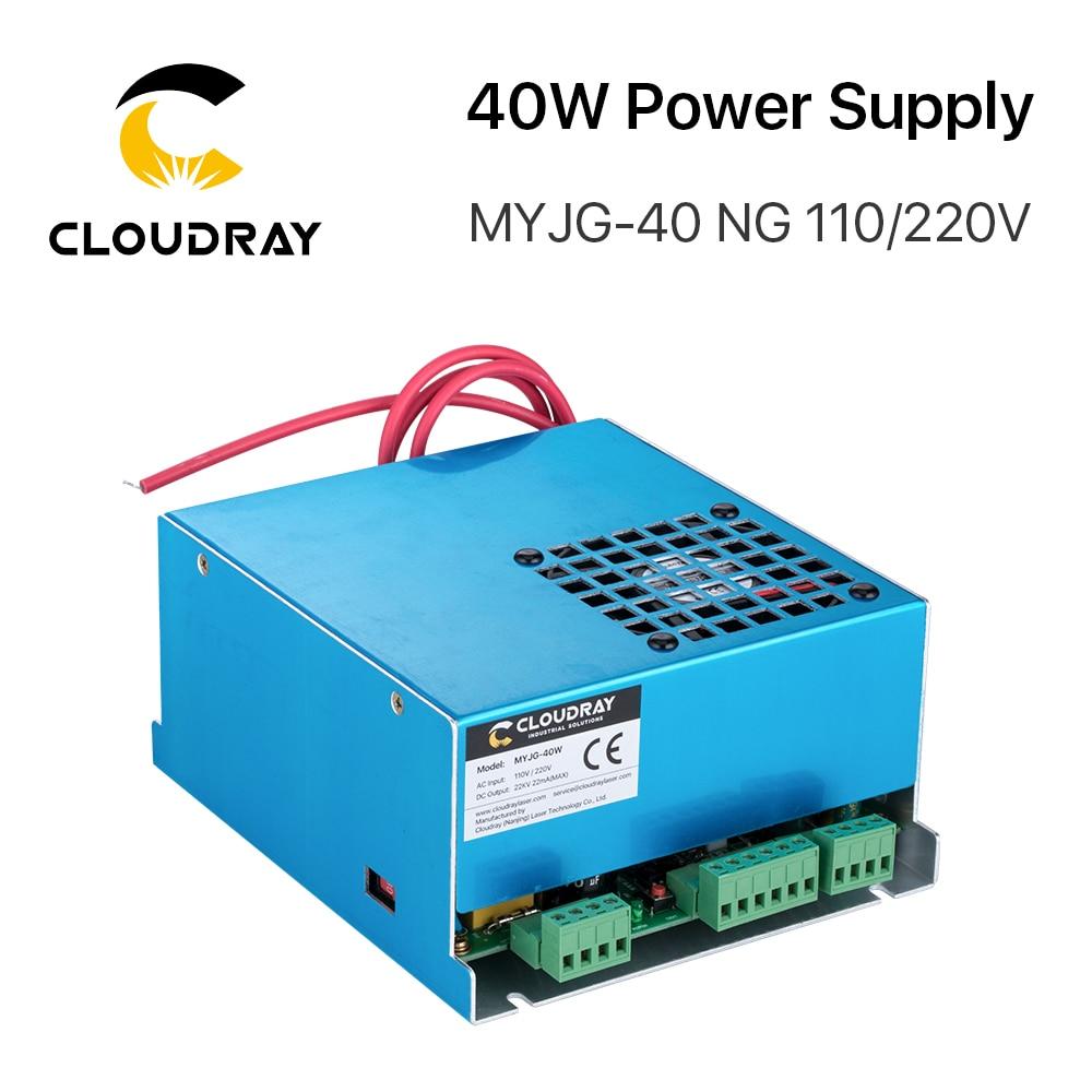 Cloudray 40W CO2 fuente de alimentación láser MYJG-40T 110V 220V para CO2 láser máquina cortadora de grabado 35-50W MYJG