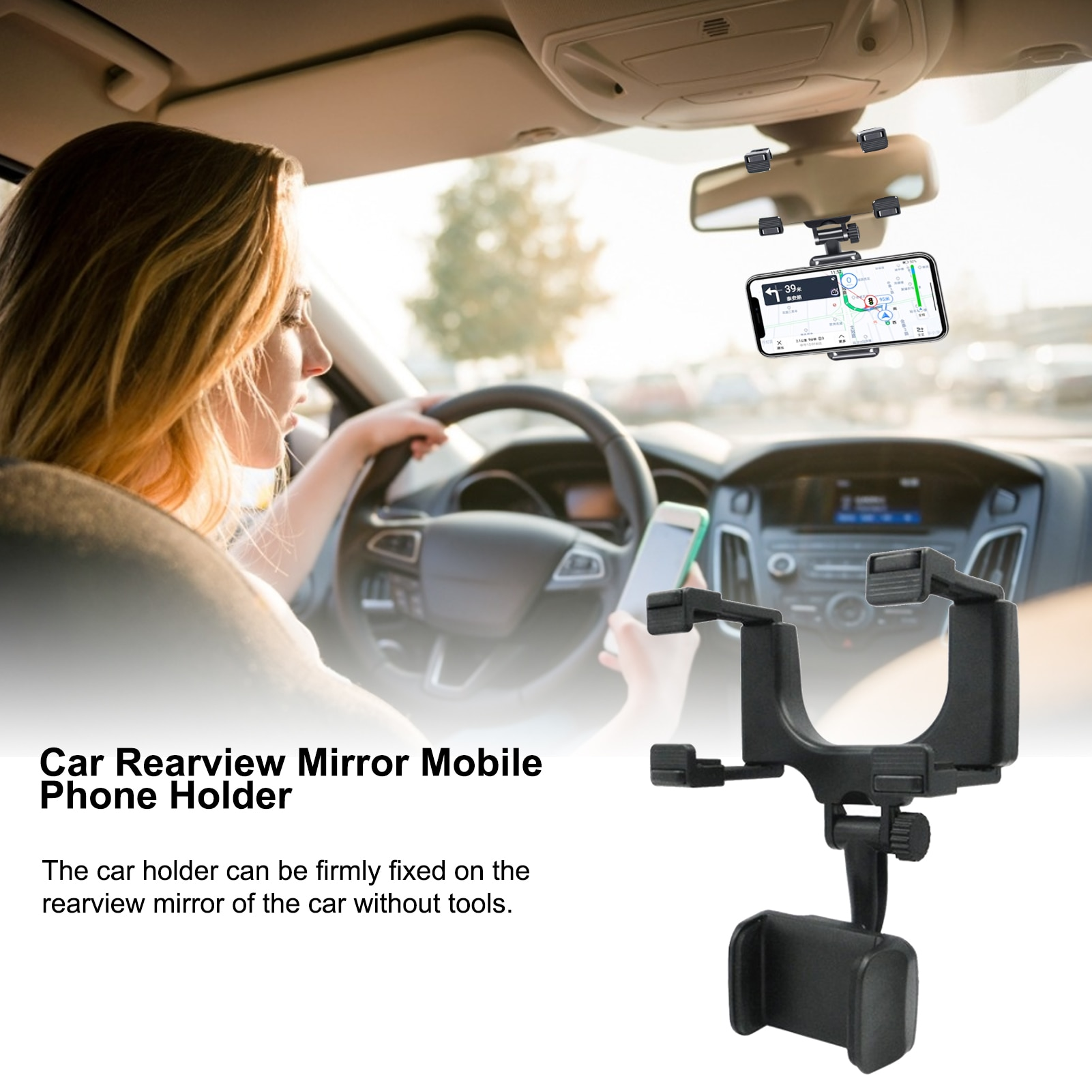 Universal Car Phone Holder Mobile Phone Holder Stand Flexible Bracket Support For Cell Phone Cars Ac