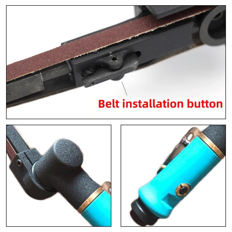 Air Belt Sander Sanding Belt Adapter Rotate 360° Pneumatic DIY Sanding Belt Angle Grinder Grinding Machine Tools Parts 10*330mm enlarge
