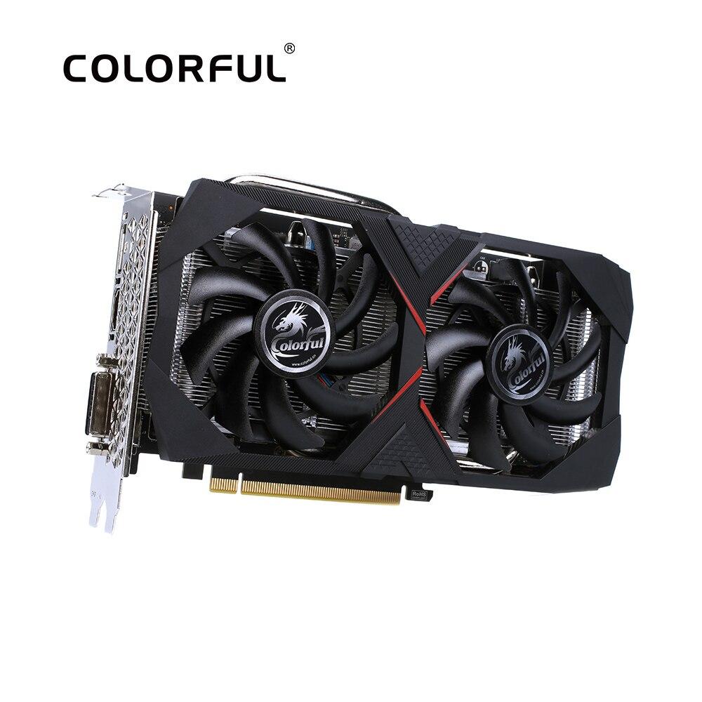 Colorido GeForce RTX 2060 6G tarjeta gráfica Nvidia GDDR6 GPU de tarjeta de vídeo de 1365-1680Mhz PCI-E 3,0 placa de Video para PC