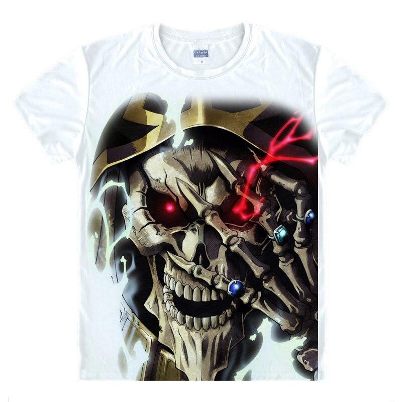 Overlord Cosplay Ainz traje de Ooal impreso Albedo camiseta mujeres hombres Casual camisetas o-cuello Tops dibujos animados verano Camisetas