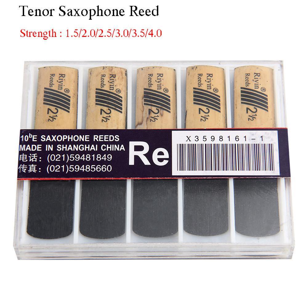 10 pçs saxofone reed conjunto com força 1.5/2.0/2.5/3.0/3.5/4.0 para tenor sax reed woodwind instrumento peças acessórios
