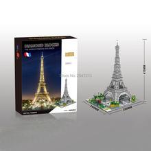 hot Lepining city classic creators famous architecture Eiffels Tower Paris France model mini micro diamond blocks bricks toys