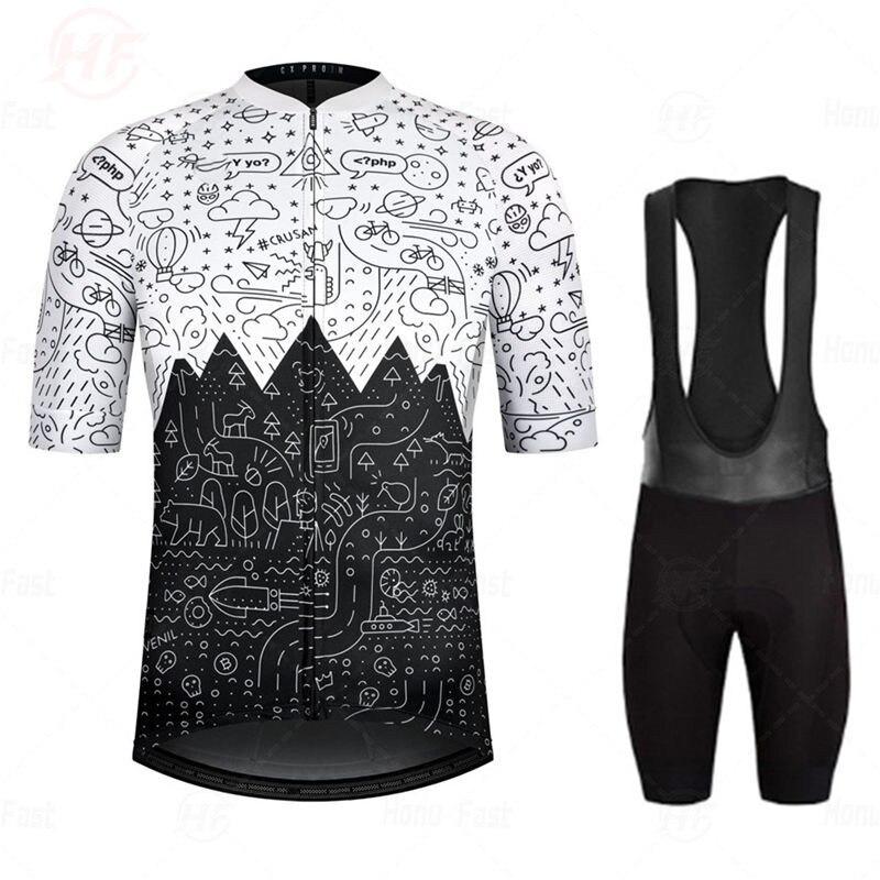 Conjunto de Ropa de Ciclismo para verano, Maillot transpirable para bicicleta de...