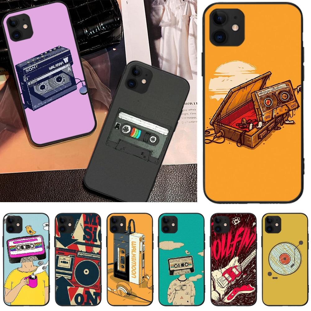Reayou cinta de música DIY Impresión de cubierta de la caja del teléfono Shell para iPhone 5 5 S 6S 7 8 plus X XS X XR XS MAX 11 11 pro 11 Pro Max