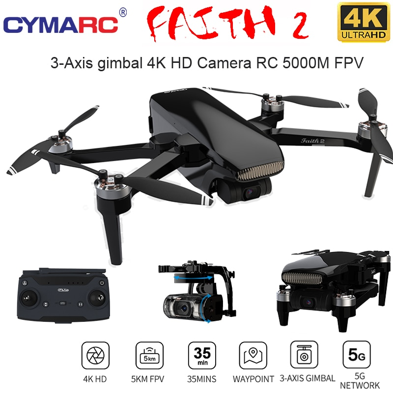 الإيمان 2 GPS Drone 4K HD كاميرا 3 محور Gimbal المهنية RC Quadcopter 35 دقيقة رحلة 5 كجم SG906 ماكس PRO2 F11 4K برو