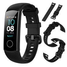 Silicone Wristwatch Band Waterproof Smart Bracelet Strap Smart Sport Bracelet Strap For Huawei Honor Band 5 Band4 Standard