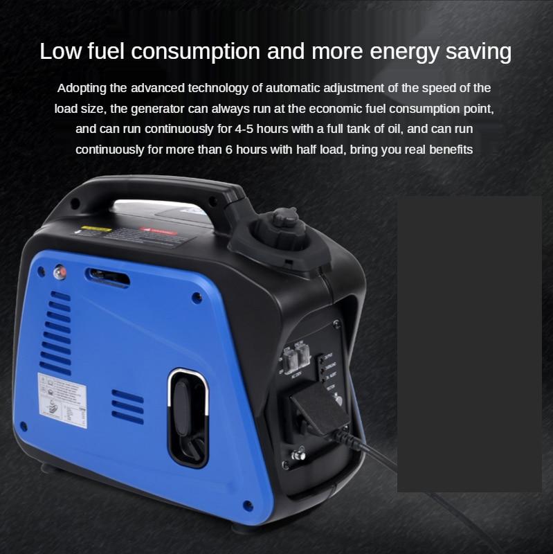 220V Portable Silent Camping Gasoline Power Inverter Generator Set 800W enlarge