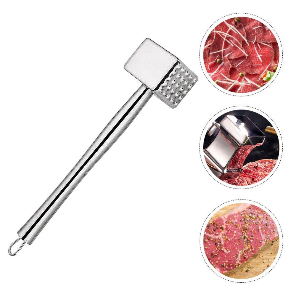 Нержавеющаясталь Кухня молоток для отбивания мяса Портативный двухсторонняя мит Хаммер размягчитель мяса для стейков из свиного филе мяс...
